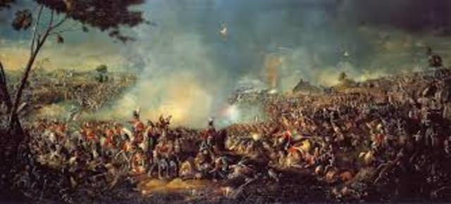 Napoleon is defeated at Waterloo