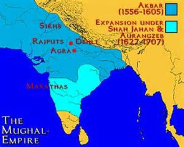 Image of the 1556 Mughal Empire