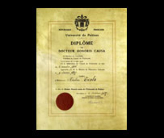 Certificate of Honorary Doctorate