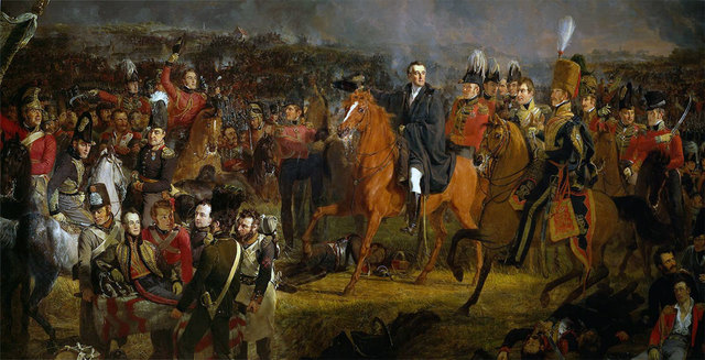 duke of wellington and his army defeat napoleon at waterloo