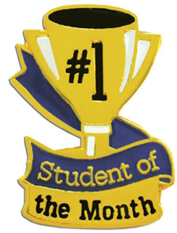 Receives Student of the Month Award