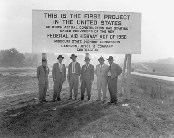 The first project to go to constuction with the Interstate funds was Missouri