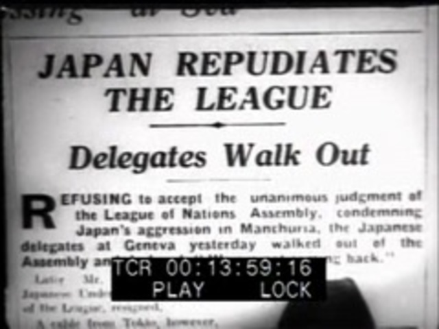 Japan Withdraws from the League of Nations