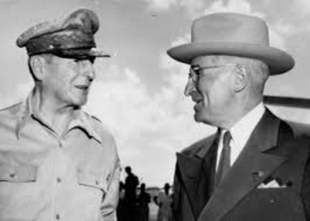 Truman sacked MacArthur for insubordination