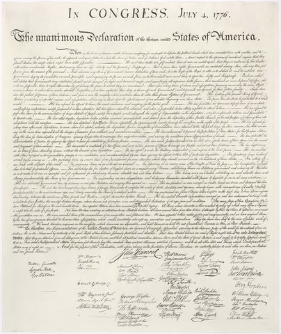 Declaration of Independence is Ratified