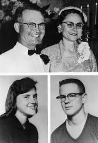 murders of Herb, Bonnie, Kenyon, and nancy Clutter, in Holcomb.