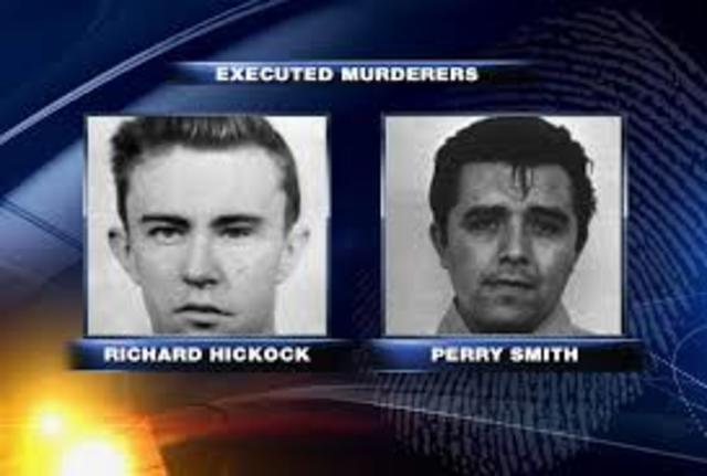 The killers are excuted by midnight;Hickock first, pronounced dead @ 12:43a.m.;then smith on the same gallows @ 1:22a.m. They are buried in unmarked graves @ a nearby cemetery.