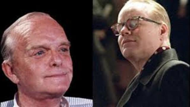 truman capote dies of liver disease complicated by phlebitis, an inflammation of the veins, and multiple drug intoxication, in a guest bedroom at the house of his friend, joanna carson, theformer wife of johnny carson.