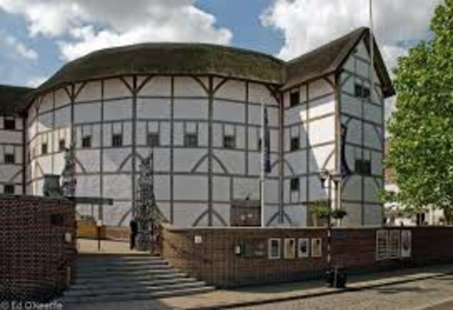 Globe Theatre is built in London