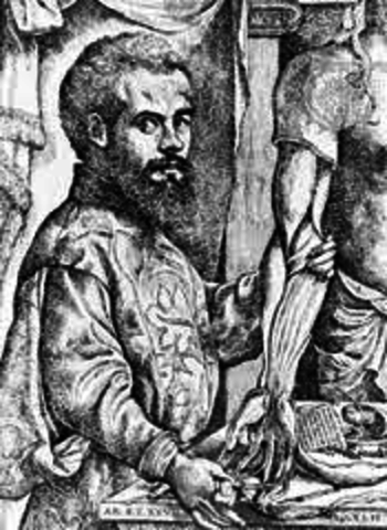 Vesalius published a seven-volume book.