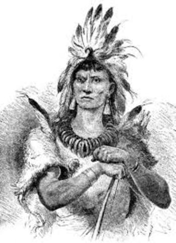 Captain John Smith was captured by the Powhatans.
