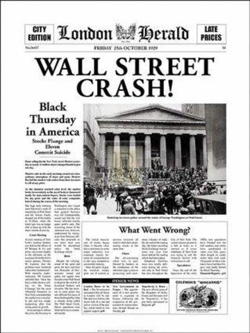 U.S. Stock Market Crash