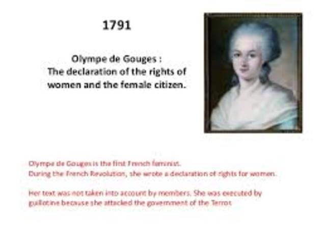 olympe de Gouges writes