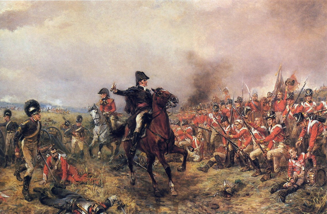 Dukes of Wellington and his army of defeat Napoleon at Waterloo