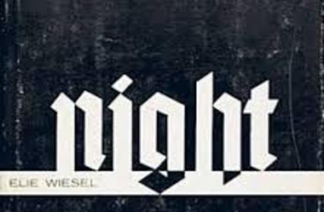 Night by Elie Wiesel timeline   Timetoast timelines Elie Wiesel Night Cover