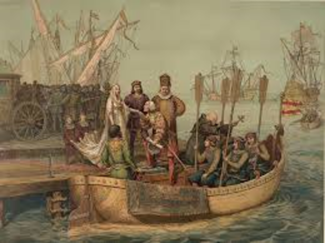 Christopher Columbus left Spain