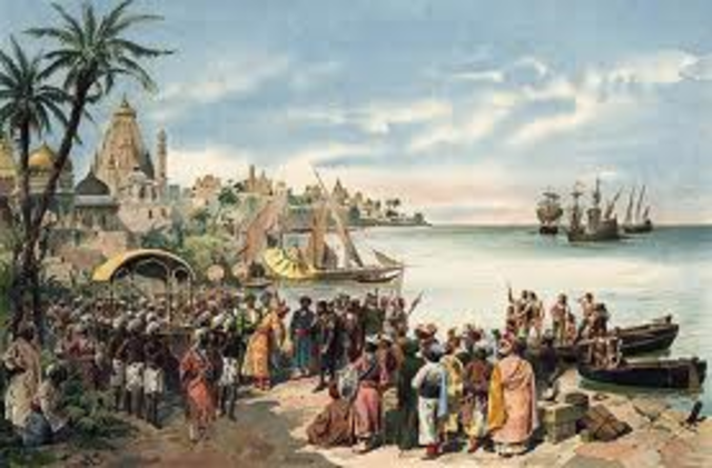 Vasco da Gama lands in India