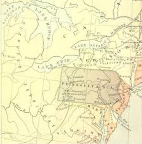 British colonial speculators secured legal rights to the Ohio Valey Region. France in process of creating forts in the Ohio Valley Region.