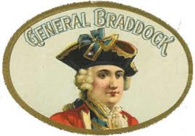 General Braddock was sent to VA