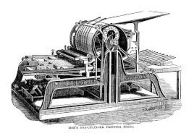Printing Press is brought to America