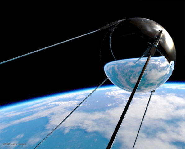 Soviet launches Sputnik I