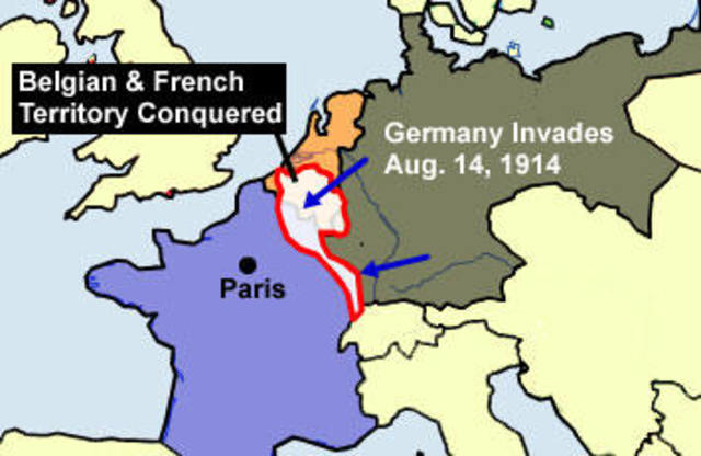 the effects of the wwi on northeastern france In world war i, many soldiers were the germans initially swept through parts of belgium and northeastern france yet poison gas, as devastating as its effects were, did not prove to be a decisive factor in the war because of its unpredictable nature.