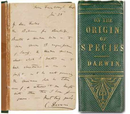 Darwin adds to Orgin of Species