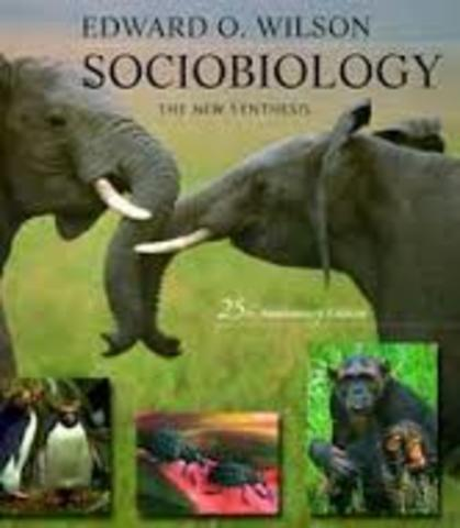 E.O. Wilson publishes Sociobiology