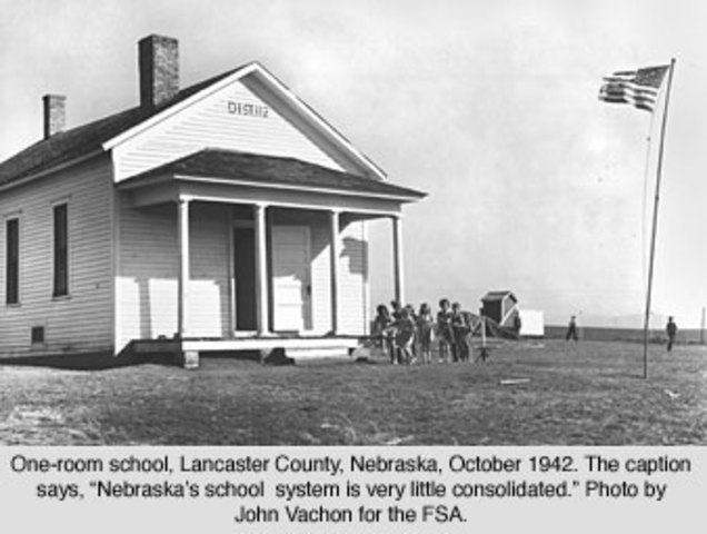 (4) One room schoolhouses