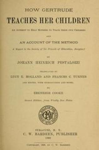 johann peztalozzi essay Pestalozzi and froebel from reminiscences of froebel  froebel attended the training institute run by johann pestalozzi at yverdon from 1808 to 1810.