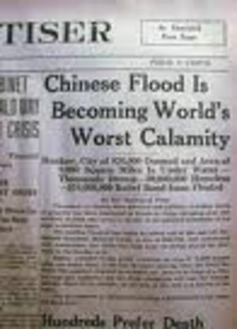 (6) The 1931 Flood in China kills over 3.5 million people