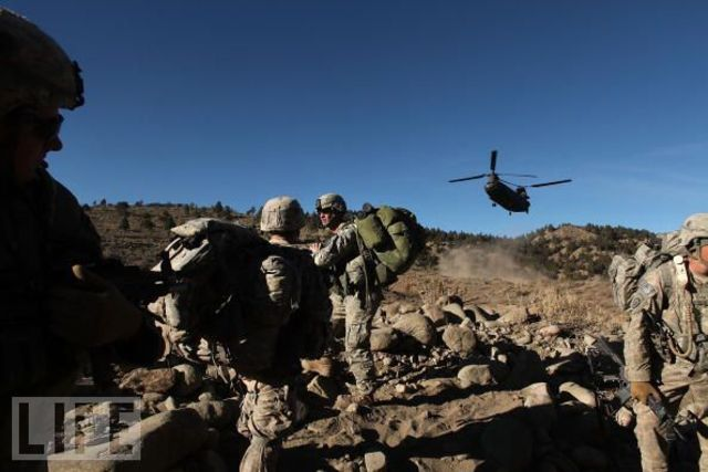 The US Assault on the Taliban in Afghanistan Begins