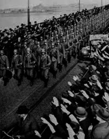 an overview of hitlers remilitarization of the rhineland in march 1936 The remilitarization of the rhineland by the on 7 march 1936 hitler to capitalize on the vast popularity of the remilitarization, hitler called a.