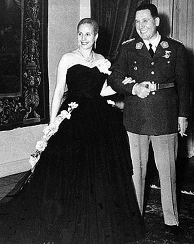 Juan Peron and Eva Peron