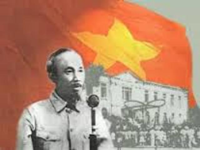 an introduction to the declaration of independence by ho chi minh Ho chi minh declared vietnam an independent republic, free of french colonial rule, on september 2, 1945 half a million people gathered in hanoi to hear him read the vietnamese declaration of independence, which was.