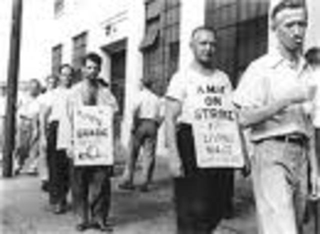 (3) Massachusetts textile workers strike for a nickel raise, and get it.