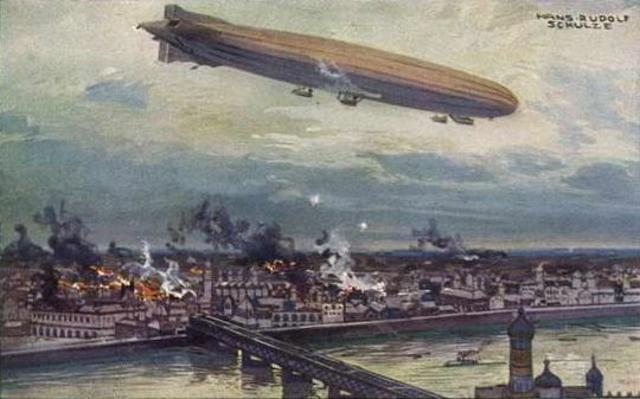 First German zeppelin attack on England