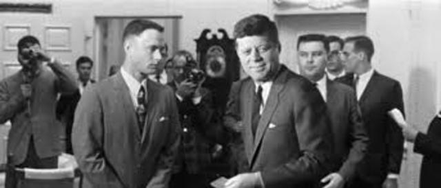 All-American Team Meets Prsident John F. Kennedy