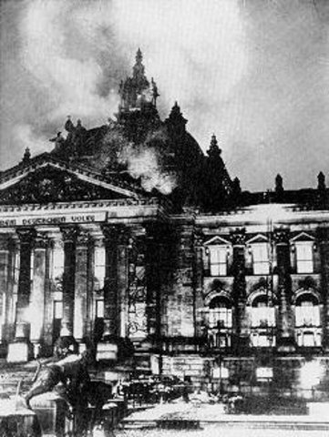 Reichstag Burns Down