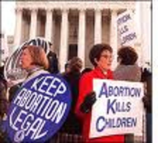 (5) Roe v Wade legalizes abortion