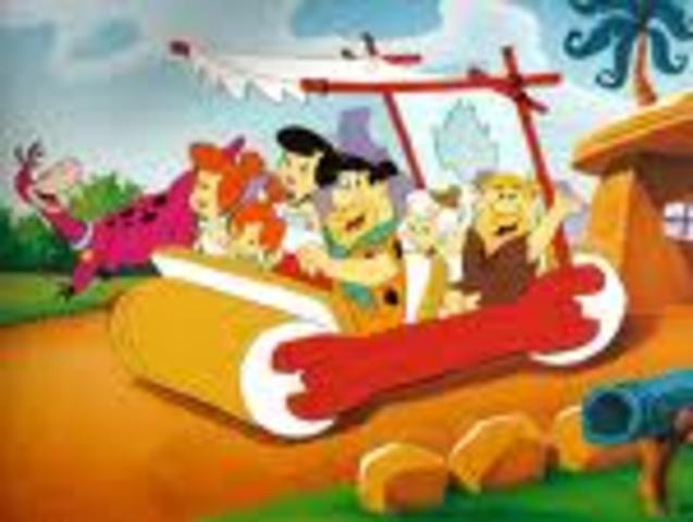 (2) The Flintstones air on T.V. and give way to Barney and Dora