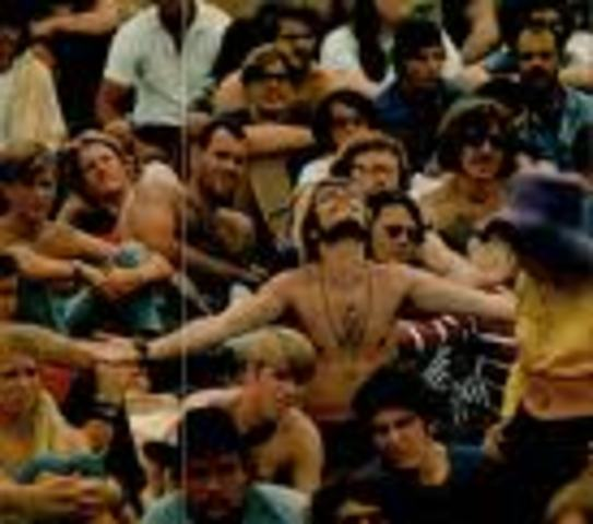 (5) Woodstock begins: 3 days of Peace and Music