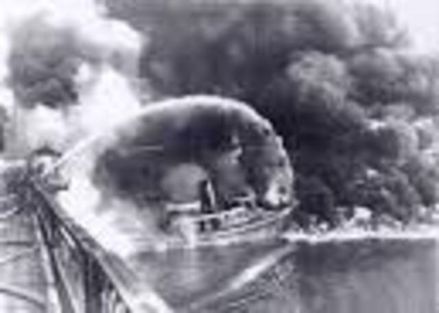 (6) Cuyahoga River catches fire
