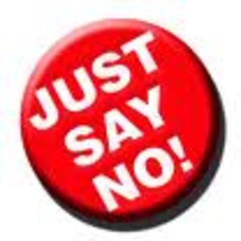 "(5) Nancy Reagan campaigns a war against drugs with the slogan ""Just Say NO!"""