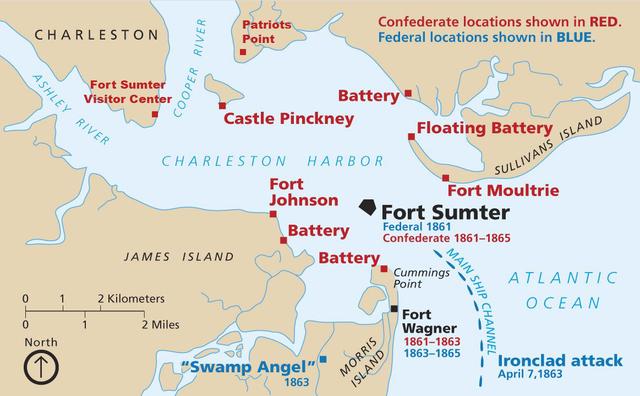 Fort sumter date in Brisbane