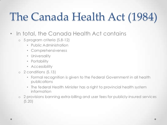 an introduction and an analysis of the canada health act Rand health explores the affordable care act early in the policy debate over competing legislative designs for reforming the health care system, analysis.