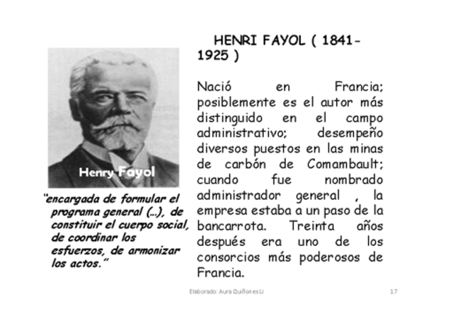 essays on henri fayol Henry fayol's management theories introduction henry fayol is arguably the father of modern management, recognised for authoring functional approach to manageme.