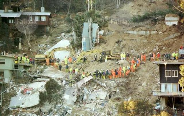 threadbo landslide 1997 The main cause of the landslide was a leaking water pipe, that created 'soil creep' which is the is the slow downward progression of rock and soil down a low grade slope.