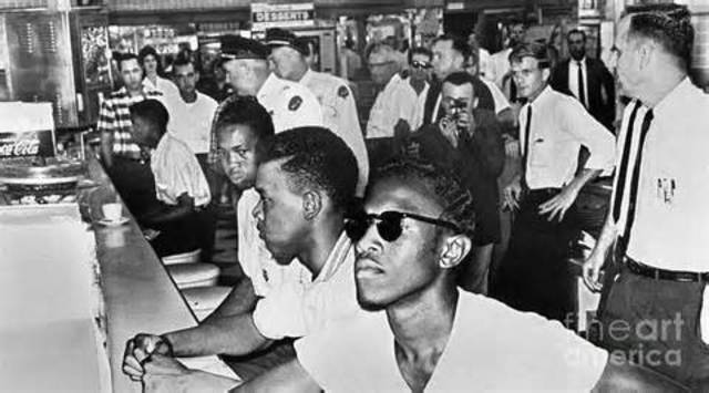 civil rights pickets and sit ins However sit-ins, boycotts, pickets and arrests continue episodically for years after the primary campaign.