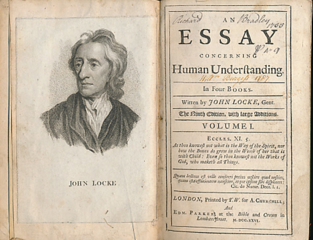 essays on human understanding by john locke In 'an essay concerning human understanding' (1690), john locke provides a complete account of how we acquire everyday, mathematical, natural scientific, religious and ethical knowledge rejecting all appeals to authority and the theory that some knowledge is innate in us, locke argues that it.